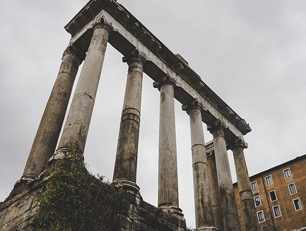 Rome Italy Temple Of Saturn Roman Forum