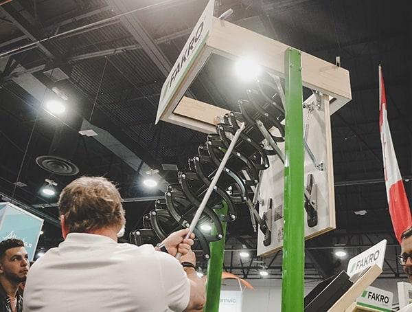 Roof Access Ladder Expandable 2019 Nahb Show Las Vegas