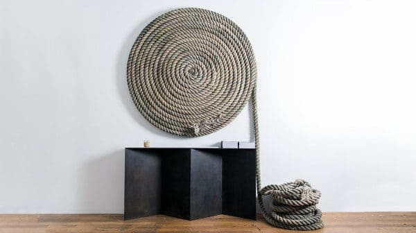 Rope Roll Wall Art Man Cave Decor Designs