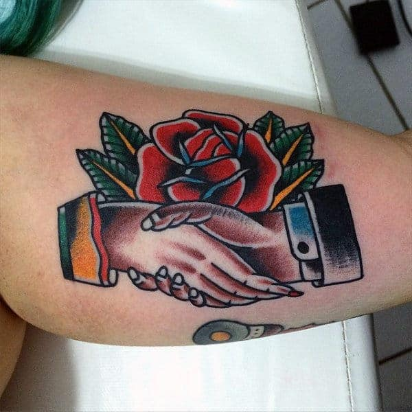 rose-and-treaty-tradiotional-american-tattoo-mens-arms