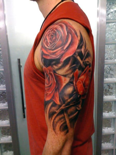 nextluxury realistic 25 red rose tattoos