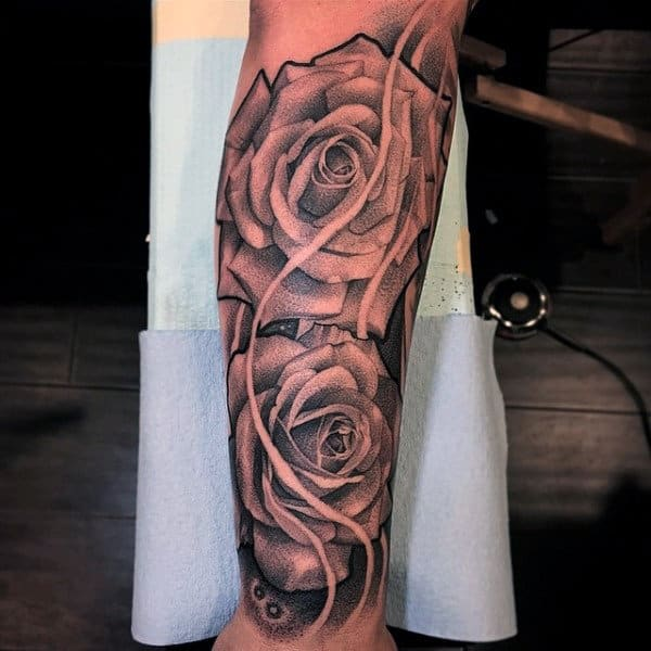 100 forearm sleeve tattoo designs for men manly ink ideas for Forearm flower tattoos