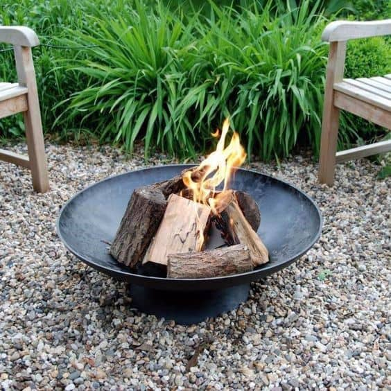 Round Cool Metal Fire Pit Design Ideas