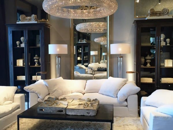 Round Crystal Chandelier Luxury Living Room Lighting Ideas
