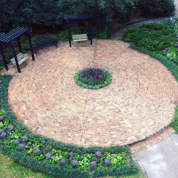 Round Home Brick Patio Ideas