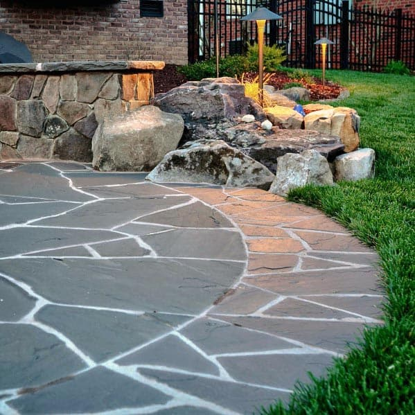 Round Ideas For Flagstone Patio