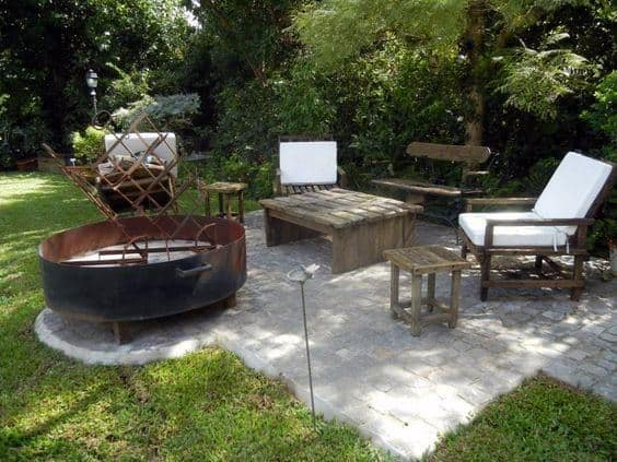 Round Large Design Ideas For Steel Fire Pit