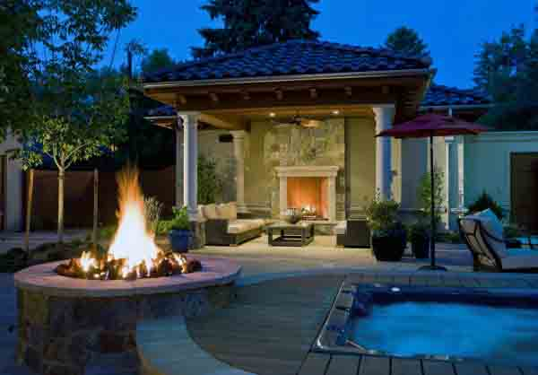 Round Outdoor Fire Pit With Fireplace