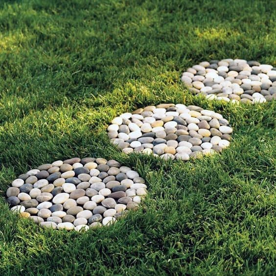Round River Rock Stepping Stone Spectacular Ideas