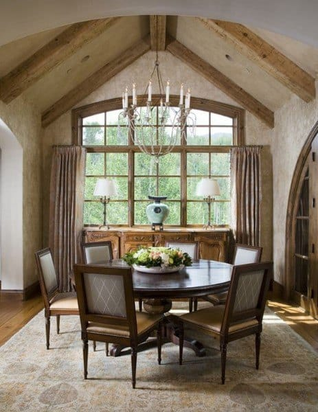 Round Table Rustic Dining Room Ideas
