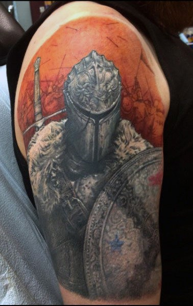 Royal Knight Tattoo Inspiration For Guys