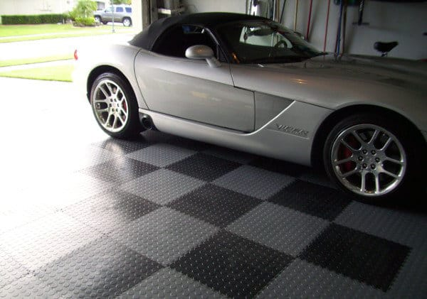 Rubber Diamond Plate Locking Tiles Mens Garage Flooring Inspiration