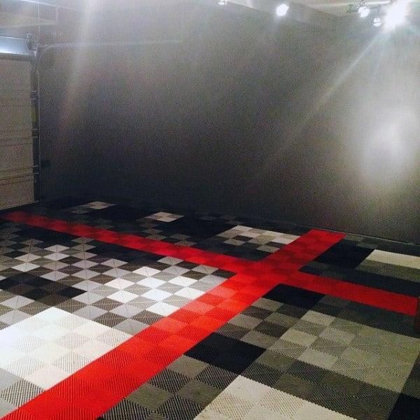 Rubber Locking Garage Tiles Design For Flooring