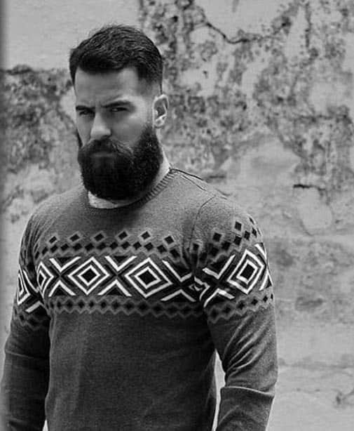Rugged Beard With Short Hairstyle Mens Fashion Ideas