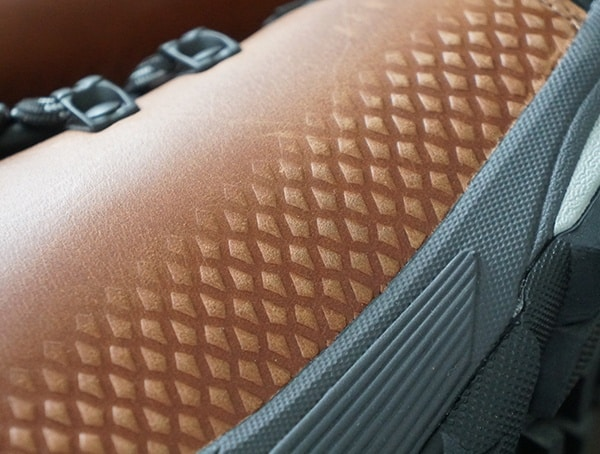 Rugged Leather Upper Detail Mens Vasque St Elias Full Grain Gore Tex Boots