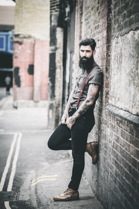 Rugged Manly How To Wear Suspenders With Jeans Outfits Style Ideas For Guys