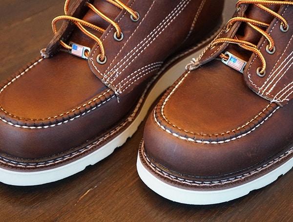 Rugged Toe Carolina 6 Inch Wedge Sole Work Boots Detail