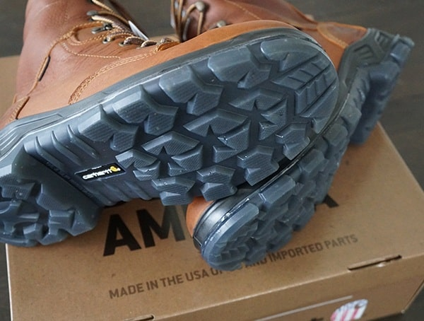 Rugged Tread Carhartt Made In The Usa 8 Inch Composite Toe Work Boots For Men