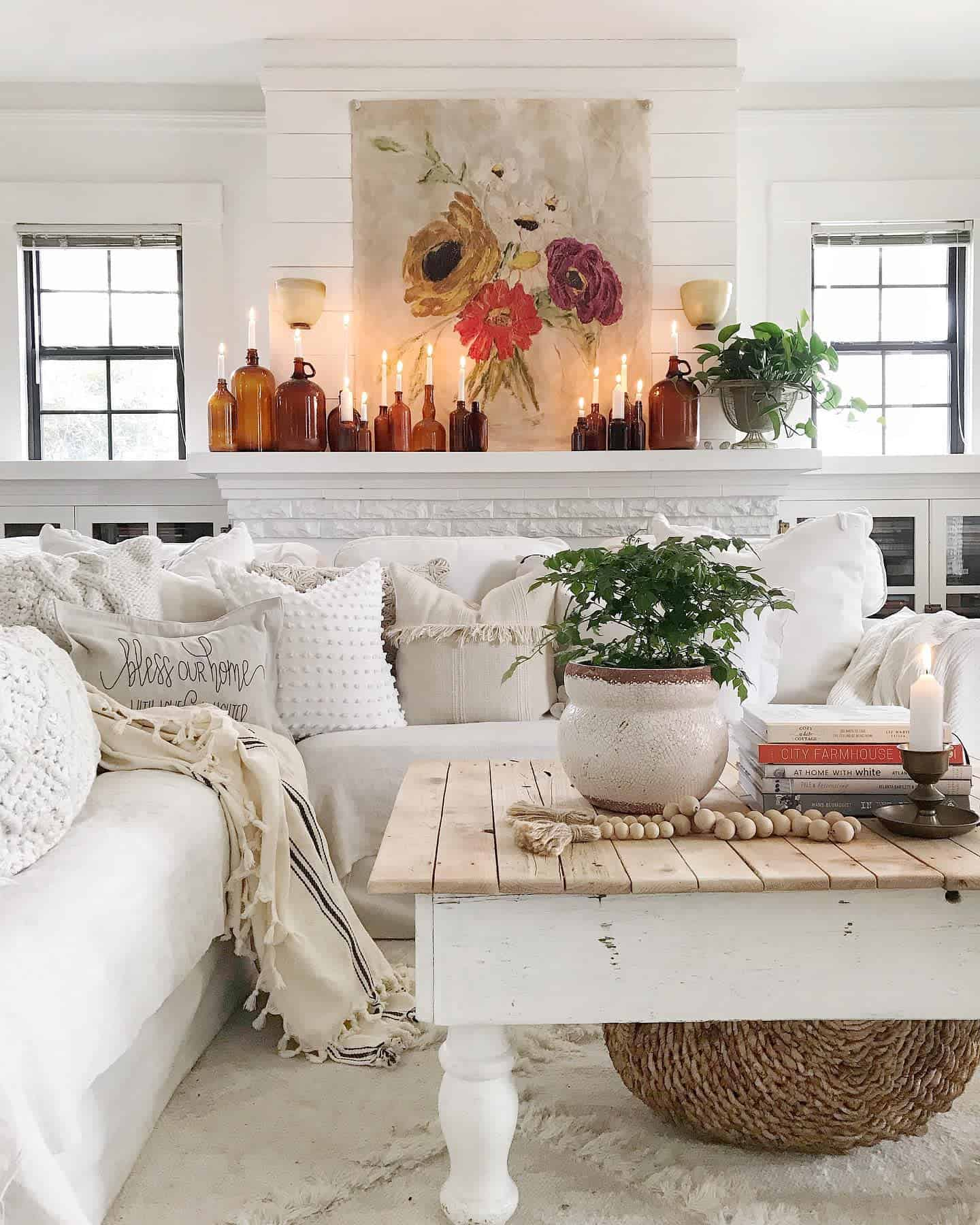 Rugs Pillows And Blankets Farmhouse Living Room Ideas Toni Marianna