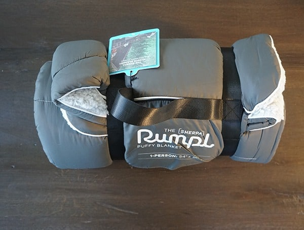Rumpl Puffy Sherpa Blanket Charcoal