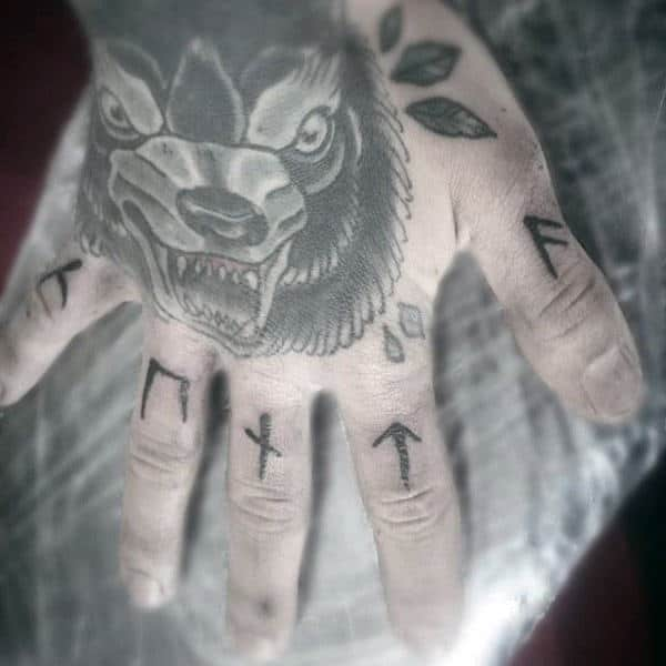 Rune Knuckle Tattoo Ideas For Guys