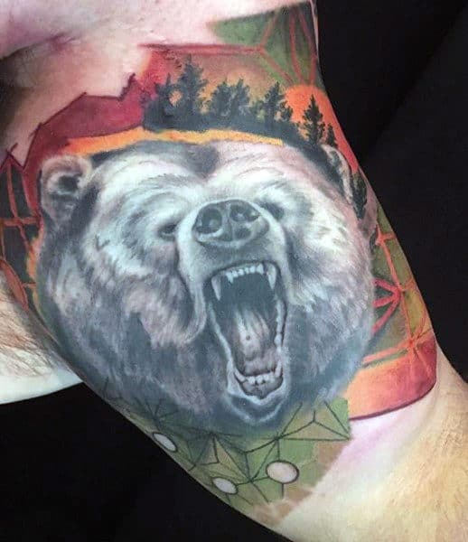 Russian Bear Tattoo For Guys