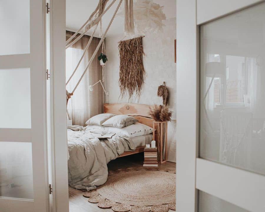 rustic and natural decor for boho bedroom ideas karolina.tamtutaj