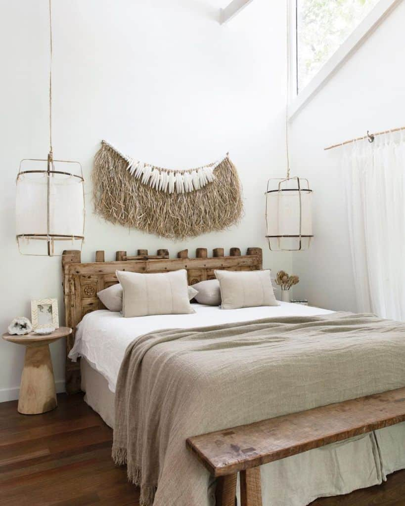 rustic and natural decor for boho bedroom ideas villastyling