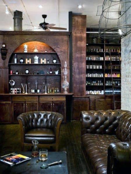 Rustic Bachelor Pad Living Room Designs For Men