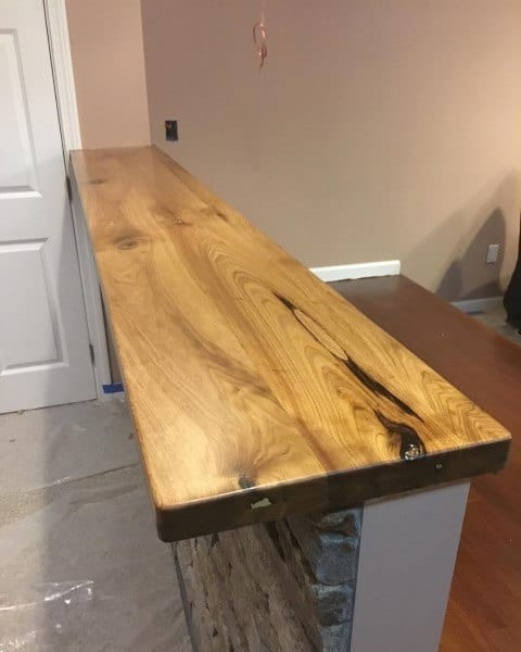 Rustic Bar Top Ideas Wood Slab