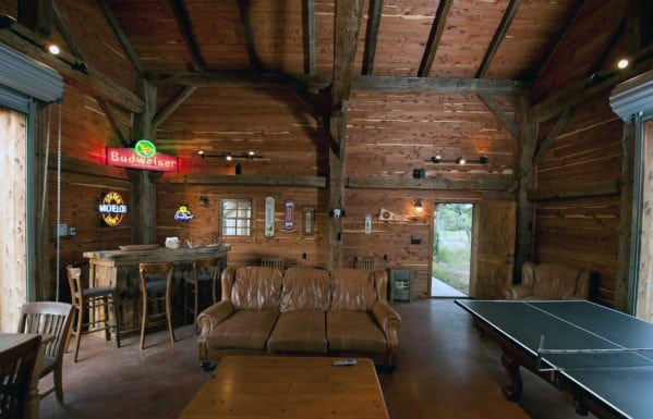Rustic Barn Cool Man Cave Design Ideas