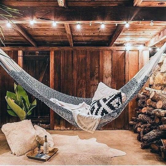 Rustic Barn Indoor Hammock Ideas