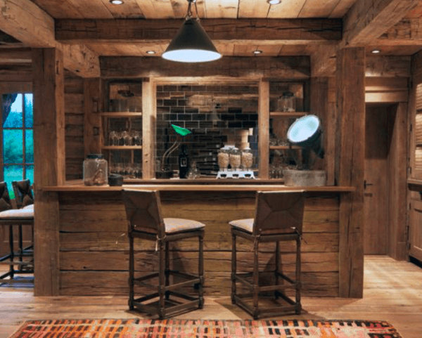 Rustic Basement Bar Designs