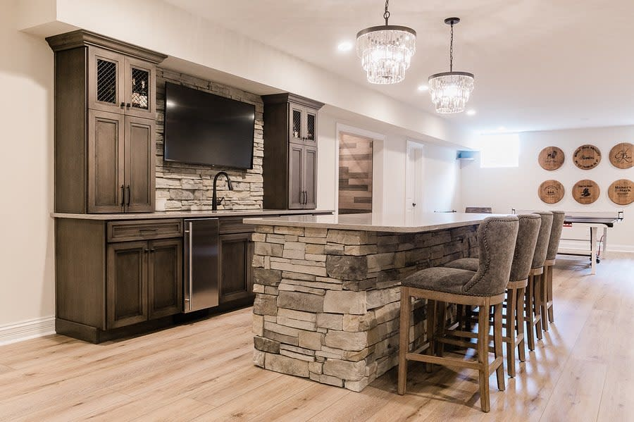 rustic basement wall ideas tjhconstruction