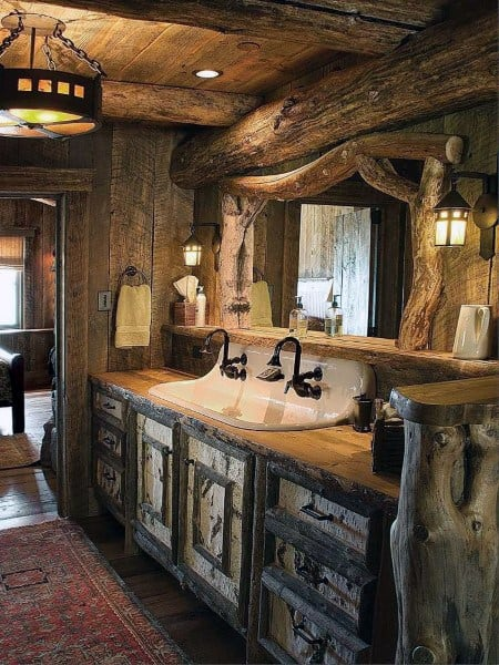 Rustic Bathroom Sinks Designs