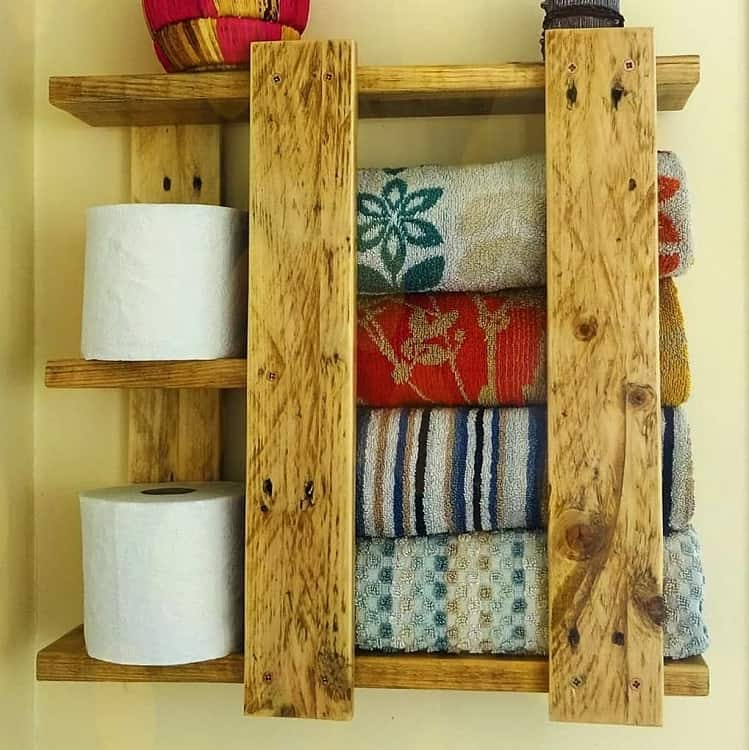 Rustic Bathroom Wooden Shelf Simplicitypallets