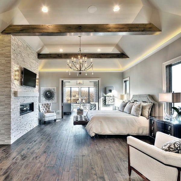 Houzify Home Design Ideas: Top 40 Best Rustic Bedroom Ideas