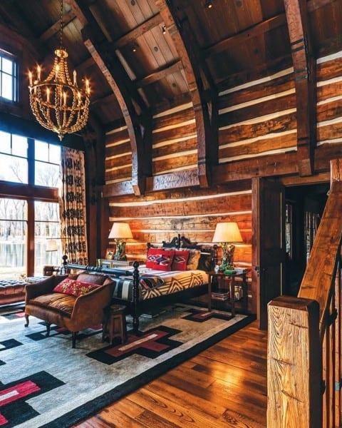 Rustique Chambre à coucher des Idées