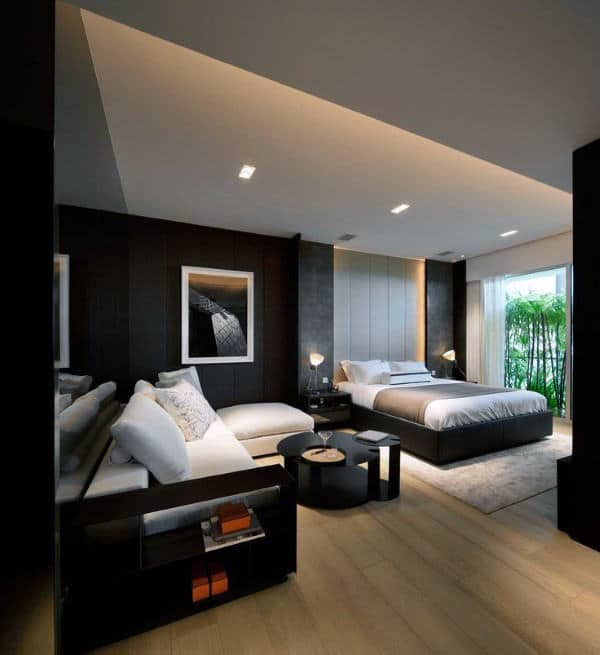 60 men 39 s bedroom ideas masculine interior design inspiration. Black Bedroom Furniture Sets. Home Design Ideas