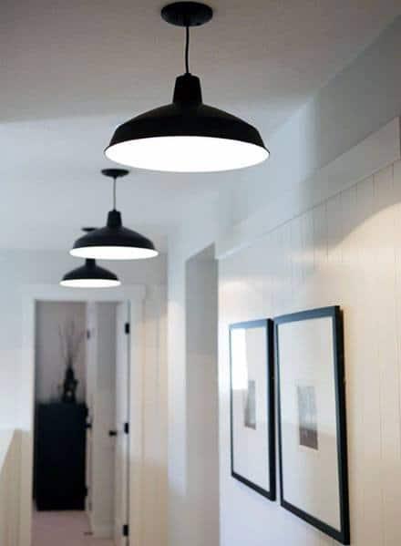 Rustic Black Ceiling Lights Luxury Hallway Lighting Ideas