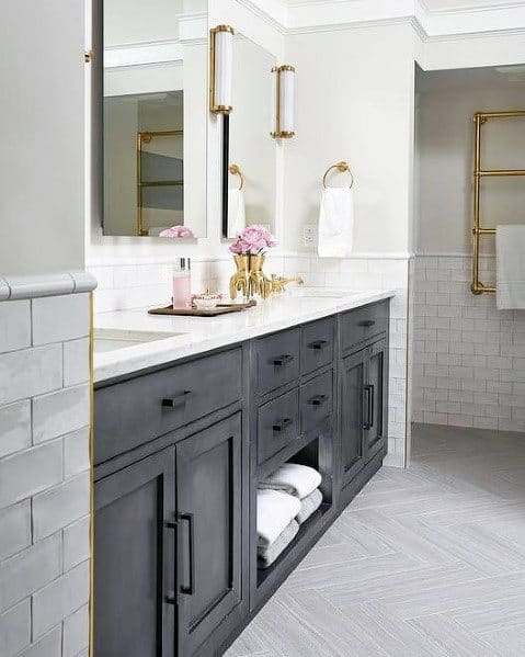 Rustic Black Design Ideas Bathroom Vanity