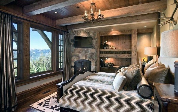 Rustic Cabin Awesome Bedroom Lighting Ideas