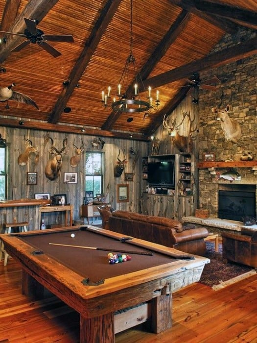 Rustic Cabin Cool Man Cave Ideas