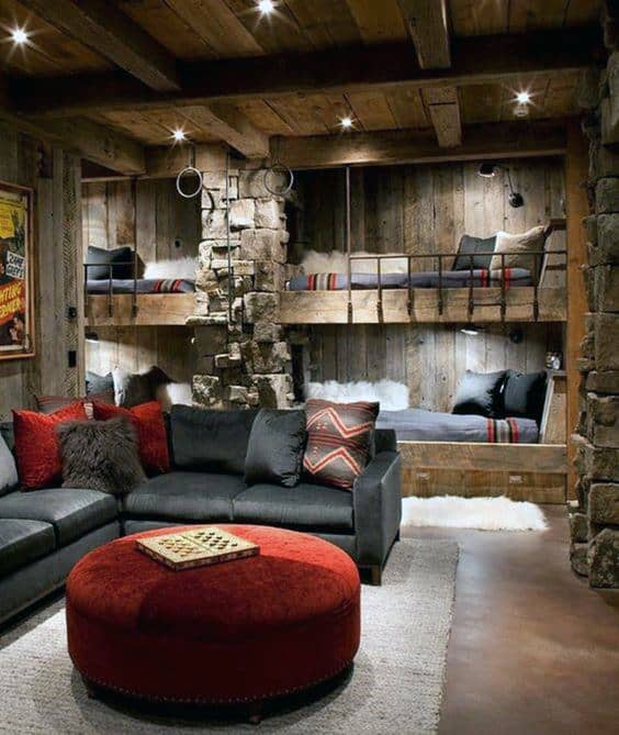 Primitive Home Decor: Top 60 Best Log Cabin Interior Design Ideas