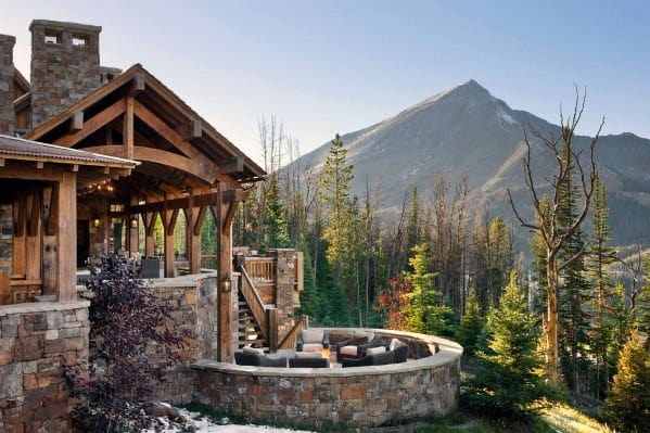 Rustic Cabin Patio Roof Idea Inspiration
