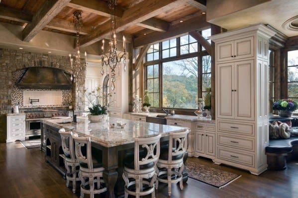 Rustic Cabin Wood Kitchen Ceiling Ideas