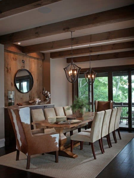 Top 40 Best Rustic Dining Room Ideas Vintage Home