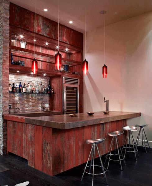 Rustic Conrete Bar Top Ideas