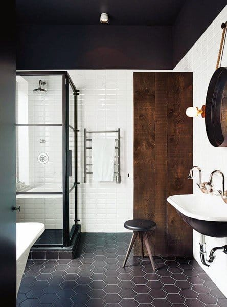 Rustic Contemporary Black Bathroom Ceiling Ideas