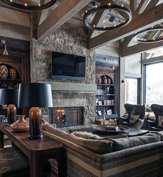 Top 60 Best Rustic Living Room Ideas - Vintage Interior Designs
